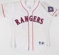 Baseball Collectibles:Uniforms, 1994 Tim Leary Texas Rangers Game Worn Jersey with Tobacco Stains....