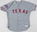 Baseball Collectibles:Uniforms, 1995 Rick Helling Texas Rangers Game Worn Jersey with All-Star Game Patch....