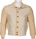 Music Memorabilia:Costumes, Eddie Cochran Owned and Worn Leather Jacket (1950s)....