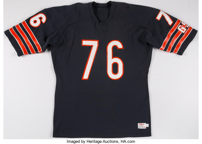 f87f55ab48b c. 1980s Steve McMichael Game Issued/Authentic Model Chicago | Lot ...