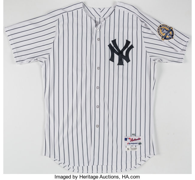 best sneakers 79741 2434e 2014 David Huff Game Worn New York Yankees Home Uniform with ...