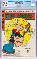 Golden Age (1938-1955):Miscellaneous, King Comics #112 Mile High Pedigree (David McKay Publications, 1945) CGC VF- 7.5 Off-white to white pages....