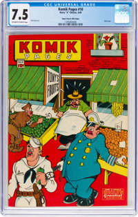 Komik Pages #10 Mile High Pedigree (Chesler, 1945) CGC VF- 7.5 Off-white to white pages