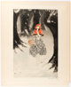 Louis Icart Red Riding Hood Signed Limited Edition Color Etching Original Art (1927)