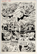 Original Comic Art:Panel Pages, Frank Thorne Marvel Feature #2 Story Page 7 Original Art(Marvel, 1972)....