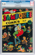 Golden Age (1938-1955):Funny Animal, Jamboree Comics #1 (Round, 1946) CGC VG/FN 5.0 Cream to off-white pages....