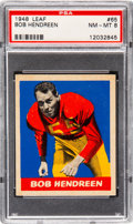 Football Cards:Singles (Pre-1950), 1948 Leaf Bob Hendereen #65 PSA NM-MT 8 - Only One Higher. ...