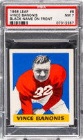 Football Cards:Singles (Pre-1950), 1948 Leaf Vince Banonis (Black Name) #8 PSA NM 7....