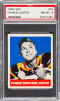 Football Cards:Singles (Pre-1950), 1948 Leaf Charlie Justice #15 PSA NM-MT 8 - Only ThreeHigher....