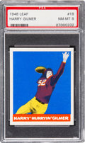 Football Cards:Singles (Pre-1950), 1948 Leaf Harry Gilmer #18 PSA NM-MT 8 - None Higher. ...