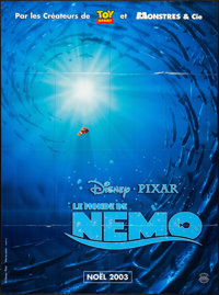 "Finding Nemo (Disney, 2003). Folded, Very Fine+. French Grande (46.5"" X 63"") Advance. Animation"