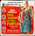 "Movie Posters:Western, The Light in the Forest (Buena Vista, 1958). Six Sheet (83"" X 83""). Artwork by Reynold Brown. Western.. ..."