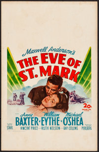 """The Eve of St. Mark & Other Lot (20th Century Fox, 1944). Overall: Very Fine. Window Cards (3) (14"""" X 22&qu..."""