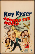 """Movie Posters:Musical, Around the World (RKO, 1943). Window Card (14"""" X 22""""). Musical.. ..."""