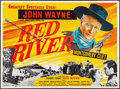"Movie Posters:Western, Red River (United Artists, R-1950s). British Quad (30"" X 40""). Western.. ..."