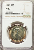 1942 50C PR67 NGC. NGC Census: (841/184). PCGS Population: (933/75). CDN: $550 Whsle. Bid for NGC/PCGS PR67. Mintage 21...