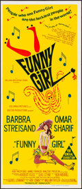 "Movie Posters:Musical, Funny Girl (Columbia, 1968). Folded, Very Fine/Near Mint.Australian Daybill (13"" X 30""). Musical.. ..."