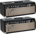 Musical Instruments:Amplifiers, PA, & Effects, Two Fender Bassman Black Amplifier Heads From 1965 & 1966, Serial #s A15982 & A17279.... (Total: 2 )