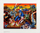 Jack Kirby Fiftieth Birthday Commemorative Captain America Print Signed by Jack Kirby #347/950 and Signed Black and Wh...