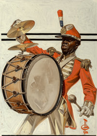 Joseph Christian Leyendecker (American, 1874-1951) Drum Major, The Saturday Evening Post cover, Septemb