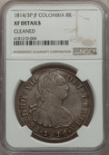 Colombia, Ferdinand VII 8 Reales 1814/3 P-JF XF Details (Improperly ...