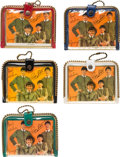 Music Memorabilia:Memorabilia, Beatles Group of Five Vintage Color Photo Wallets (1964)....