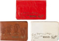 Music Memorabilia:Memorabilia, Beatles Group of Leather Wallets (1964)....