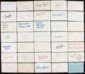 Autographs:Index Cards, Football Greats Signed Index, Postcard, Cut, & First Day CoverLot....