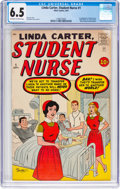 Silver Age (1956-1969):Humor, Linda Carter, Student Nurse #1 (Atlas, 1961) CGC FN+ 6.5 Off-white to white pages....