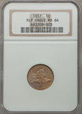 1857 1C MS64 NGC. NGC Census: (921/232). PCGS Population: (1163/321). MS64. Mintage 17,450,000