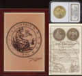 """1876"" $100 Gold Union, Gem Uncirculated NGC. Proposed design by George T. Morgan. Private issue struck in 200..."