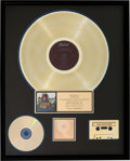 Music Memorabilia:Awards, Beatles Yellow Submarine RIAA Hologram Gold Record SalesAward Presented to the Artist (Apple Records SW-153, 1969...