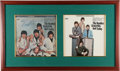 """Music Memorabilia:Autographs and Signed Items, Beatles Ringo Starr Signed Stereo """"Butcher Cover"""" and Yesterdayand Today Stereo Third State Framed Display. (Capi..."""