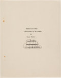 "Movie/TV Memorabilia:Documents, Orson Welles Unpublished ""Twice Is Too Much: A Melodrama in Two Scenes"" Script. ..."