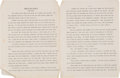 "Movie/TV Memorabilia:Documents, Orson Welles Unpublished ""Hand on the Balance (Revised)"" Short Story. ..."