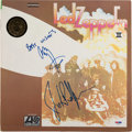 Music Memorabilia:Autographs and Signed Items, Led Zeppelin II LP Cover Signed by Jimmy Page and John PaulJones (Atlantic SD 8236, 1969)....