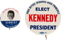 """Political:Pinback Buttons (1896-present), John F. Kennedy: Two """"Better"""" Buttons. ... (Total: 2 Items)"""