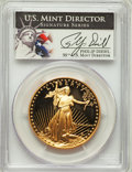 1986-W G$50 One-Ounce Gold Eagle, Diehl Signature, PR70 Deep Cameo PCGS. PCGS Population: (627). NGC Census: (2371)....(...