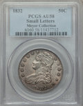 Bust Half Dollars, 1832 50C Small Letters AU58 PCGS. EX: Meyer Collection. PCGS Population: (401/397). NGC Census: (356/403). AU58. Mintage 4,...
