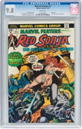 Bronze Age (1970-1979):Adventure, Marvel Feature (2nd Series) #1 Red Sonja (Marvel, 1975) CGC NM/MT 9.8 White pages....