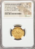 Ancients:Roman Imperial, Ancients: Leo I and Leo II (AD 473-474). AV solidus (20mm, 4.20 gm, 6h). NGC XF 5/5 - 3/5, scratches, clipped....
