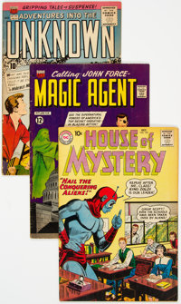 Comic Books - Assorted Silver Age Science Fiction Comics Group of 9 (Various Publishers, 1950s-60s) Condition: Average V...