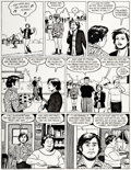 "Original Comic Art:Panel Pages, Jaime Hernandez Love and Rockets #15 ""At the Beach"" StoryPage 5 Original Art (Fantagraphics..."