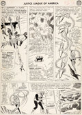 Original Comic Art:Panel Pages, Mike Sekowsky and Bernard Sachs Justice League of America#25 Page 14 Original Art (DC, 1964)....