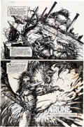 Original Comic Art:Panel Pages, Barry Windsor-Smith Giant Size Rune #1 Story Page 1 OriginalArt (Malibu, 1995)....