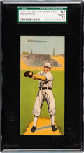 Baseball Cards:Singles (Pre-1930), 1911 T201 Mecca Double Folders Walsh/Payne SGC 92 NM/MT+ 8.5 - PopTwo, None Higher. ...