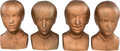 Music Memorabilia:Memorabilia, Beatles Set of Four Plastic Busts (UK - Rotacoust, 1963)....