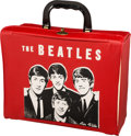 Music Memorabilia:Memorabilia, Beatles Large Image Kabootle Red Pail (Air Flite, 1964)....