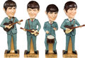 "Music Memorabilia:Memorabilia, Beatles 14"" Promotional Bobb'n Head Dolls Set (Car Mascots, 1964)...."