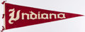 Miscellaneous Collectibles:General, Vintage Indiana University Oversized Pennant....